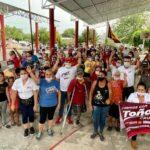 En San Juan de los Plátanos, Toño Cruz, recibe respaldo contundente de la gente: Toño Cruz